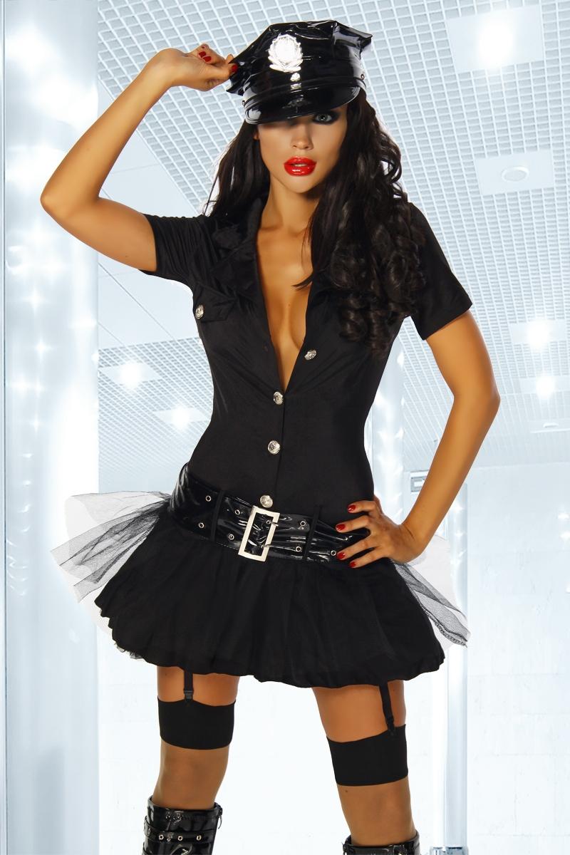 Sexy Aufreizendes Karneval Set Fasching Outfit 5 Tlg Polizistin