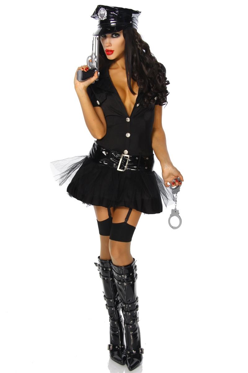 Sexy Aufreizendes Karneval Set Fasching Outfit 6 Tlg Polizistin